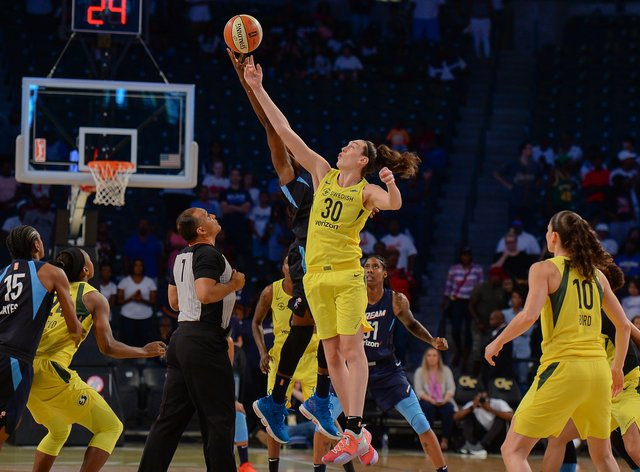 Breanna Stewart was given the Most Valuable Player Award at the end of the 2018 season after winning the WNBA with Seattle Storm (PA Images)
