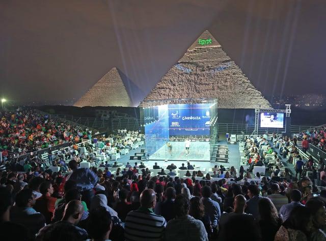 World Championships taking place at the Great Pyramid of Giza (PSA World Tour)