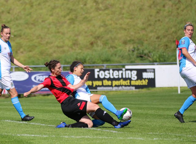 Lewes Women FC in action against Blackburn Rovers (PA Images)