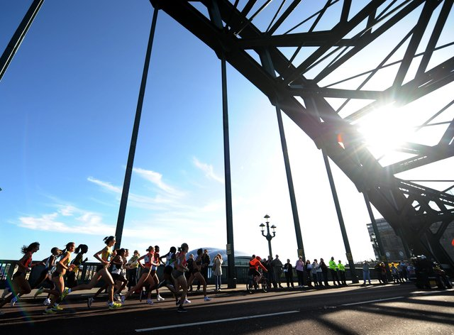 Just under half the participants of the Great North Run were women (PA Images)