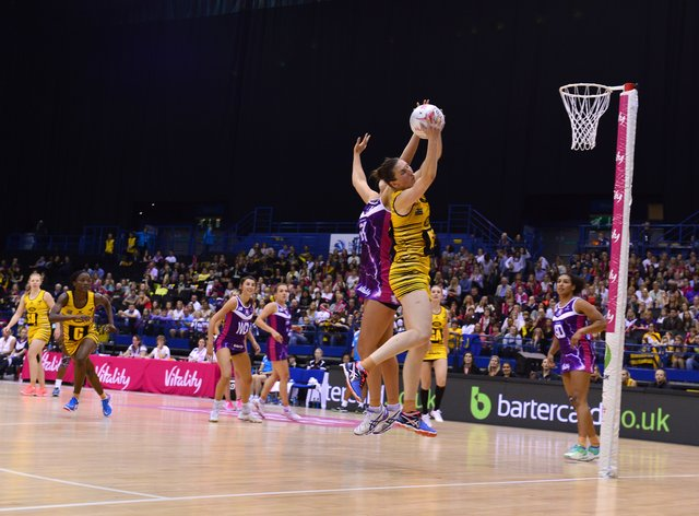 Rachel Dunn in action during the Superleague final last year (PA Images)