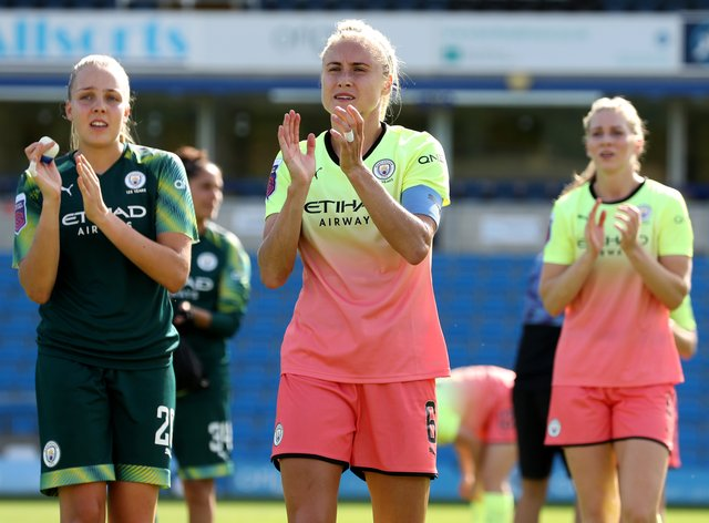 Steph Houghton celebrates Manchester City's win over Reading (PA Images)