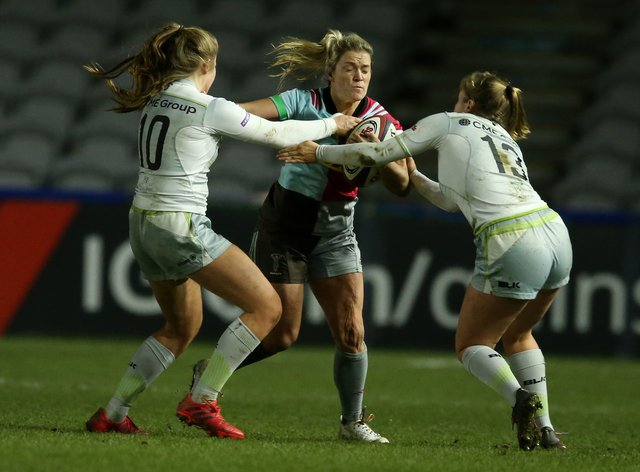 Harlequins hosted a record crowd for a women's club match this year (PA Images)