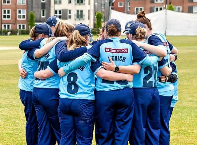 Levick and the Yorkshire team had an emotional huddle before their last game ever (Katie Levick twitter)
