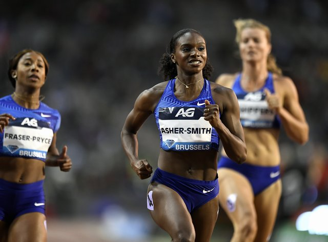 Dina Asher-Smith ran a season best time of 10.88 seconds in the 100m in Brussels this month (PA Images)