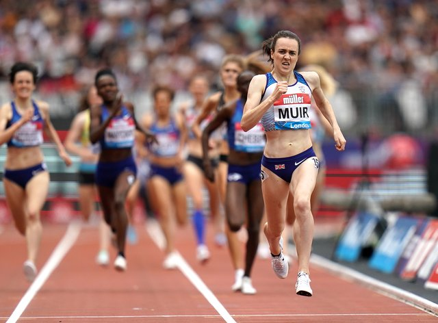Laura Muir has not run since 20 July due to an injured calf (PA Images)