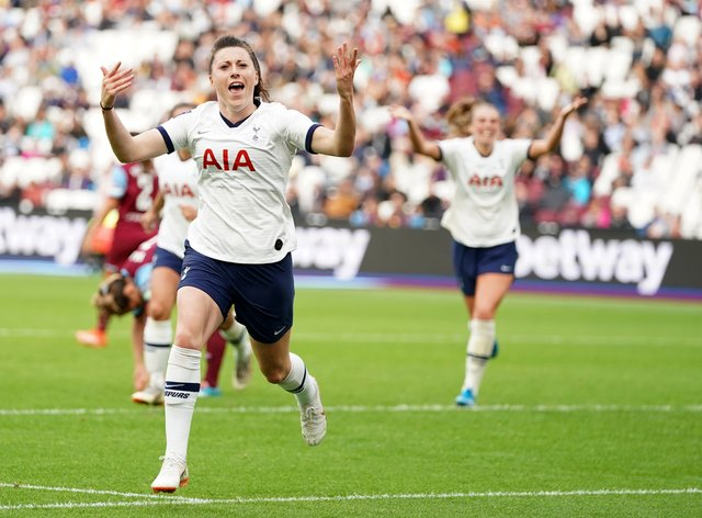 Lucy Quinn scored to secure Tottenham's second win in three matches in the league (PA Images)