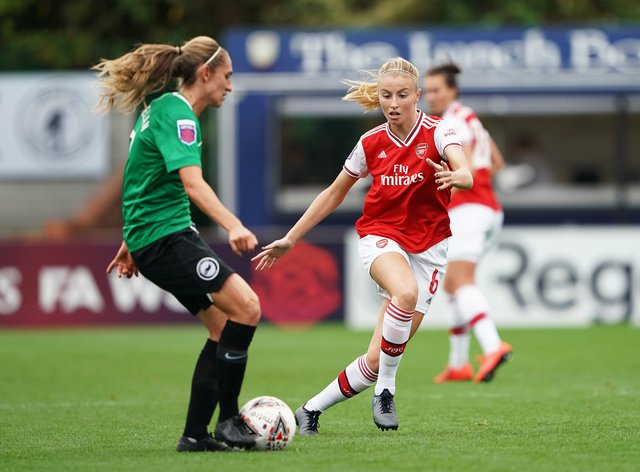 Leah Williamson played a starring role against Brighton (PA Images)