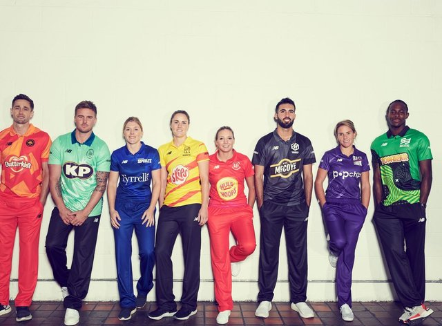 The team names and their kits were unveiled today (ECB)