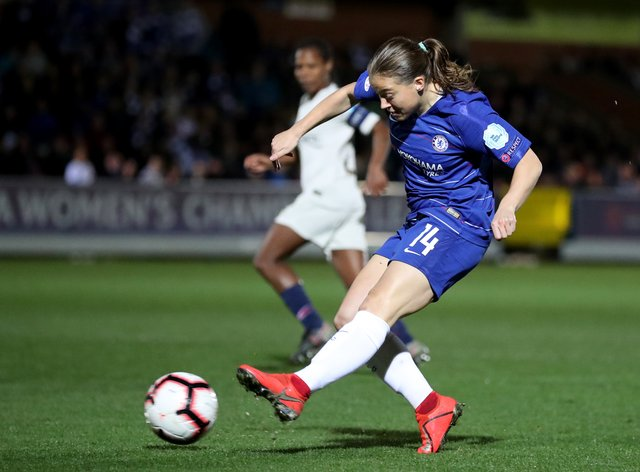 <p>Chelsea's Fran Kirby scored four goals in her club's 5-0 win</p>