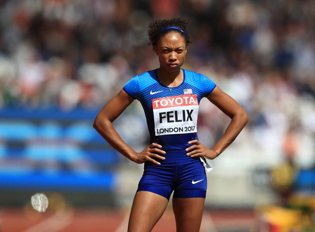 Allyson Felix became a mother and found a voice off the track  (PA Images)