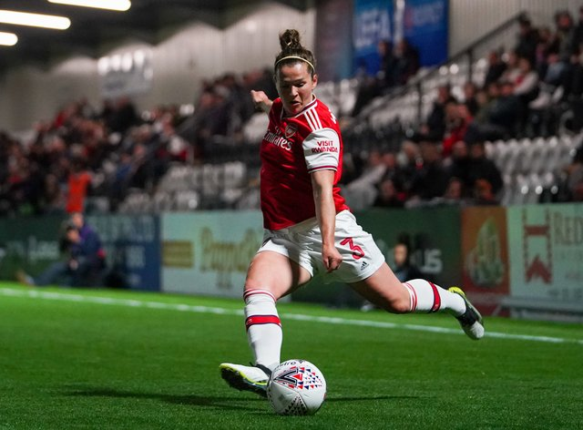 Emma Mitchell didn't celebrate Arsenal's WSL win last season (PA Images)
