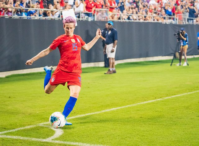 Megan Rapinoe scored six goals at the World Cup in the summer (PA Images)