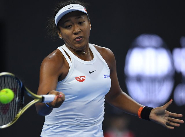 Naomi Osaka hit 12 aces in the match, as her serve and consistency proved too much for Petra Kvitova (PA Images)
