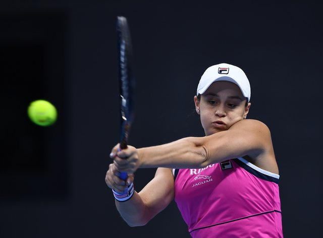 Ashleigh Barty played a solid last two sets to recover from losing the opening set to Belinda Bencic (PA Images)