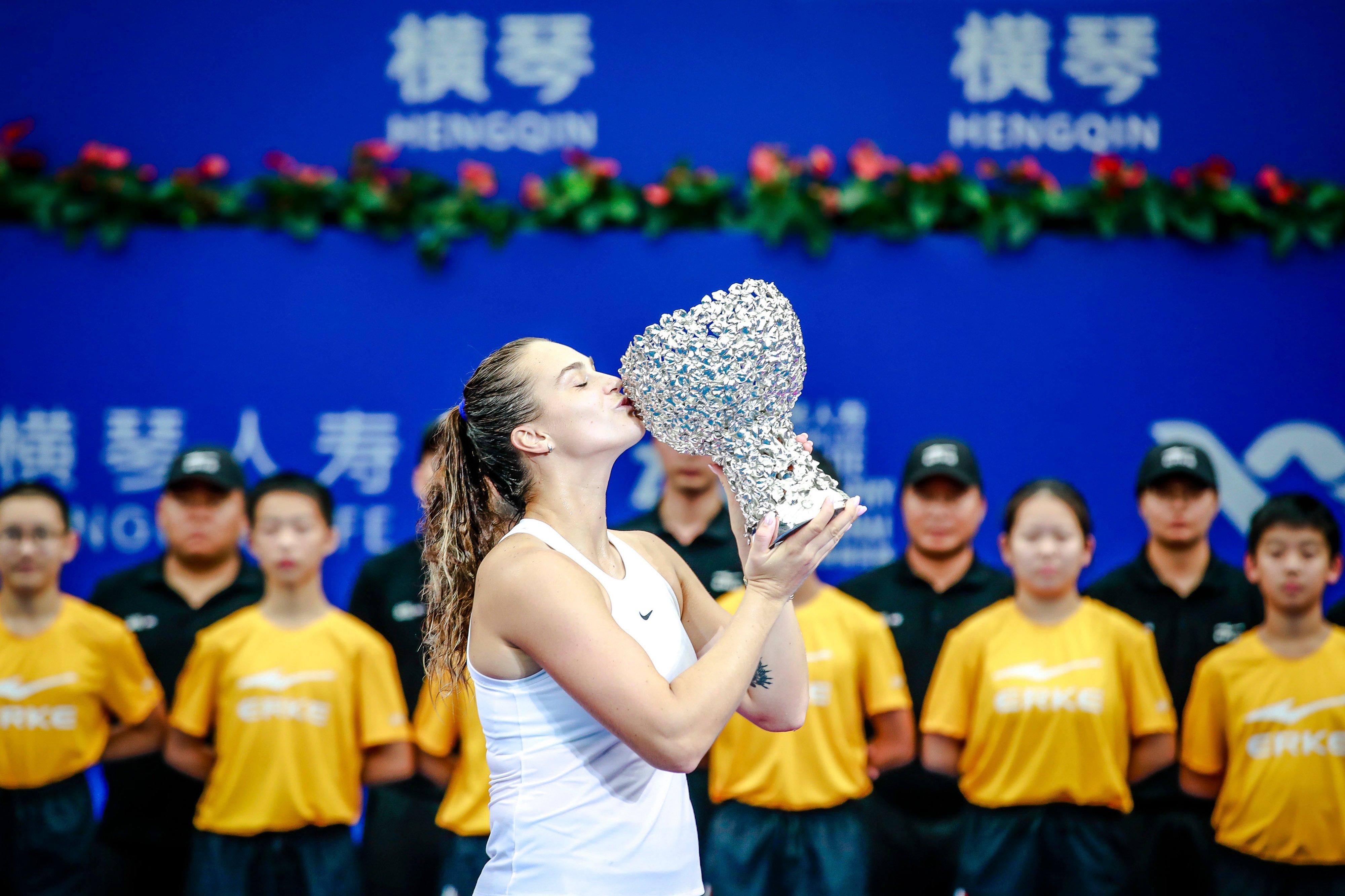 Aryna Sabalenka eases past Kiki Bertens to secure WTA Elite Trophy in Zhuhai