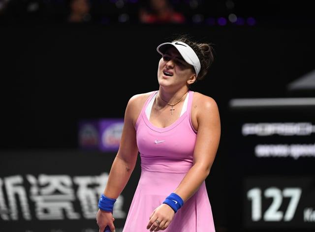Bianca Andreescu retired from her match against Karolina Pliskova yesterday (PA Images)