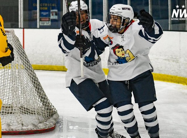 The Metropolitan Riveters have made a strong start to their 2019 campaign (Twitter: NWHL)