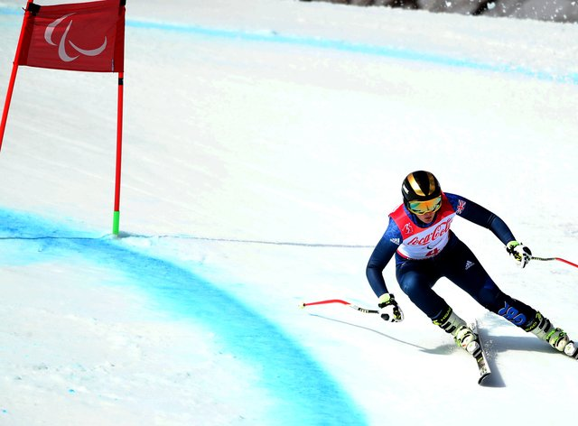 Millie Knight on her way to Paralympic silver in the women's downhill in Sochi 2018 (PA Images)