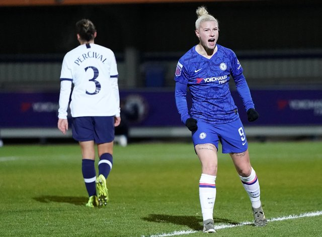 England, right, scored twice for Chelsea (PA Images)