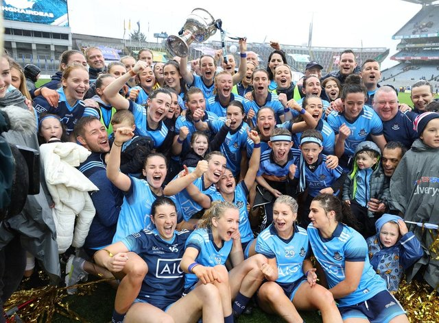 Dublin lifted the trophy for the third year in a row in front of a record crowd (PA Images)
