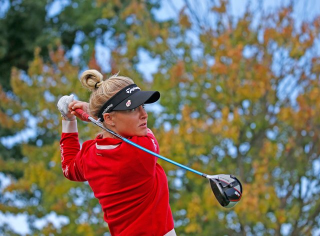 Charley Hull is on the charge heading into the final day in Florida (PA Images)