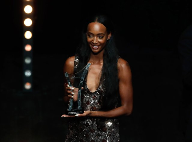 Dalilah Muhammad scooped the female athlete of the year award at the World Athletics Awards in Monaco (PA Images)