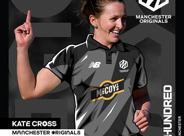 Kate Cross is one of the England stars in the line-up for the first game (instagram: manchesteroriginals)