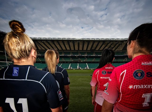 2020 will be the first time the women's Army and Navy sides walk out on the hallowed turf at Twickenham (twitter: @armyrugbyunion)