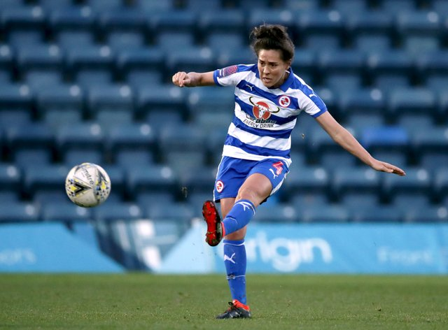 Reading captain Fara Williams scored the first goal of the game (PA Images)