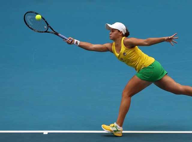 Ashleigh Barty is playing on home soil at the Australian Open (PA Images)
