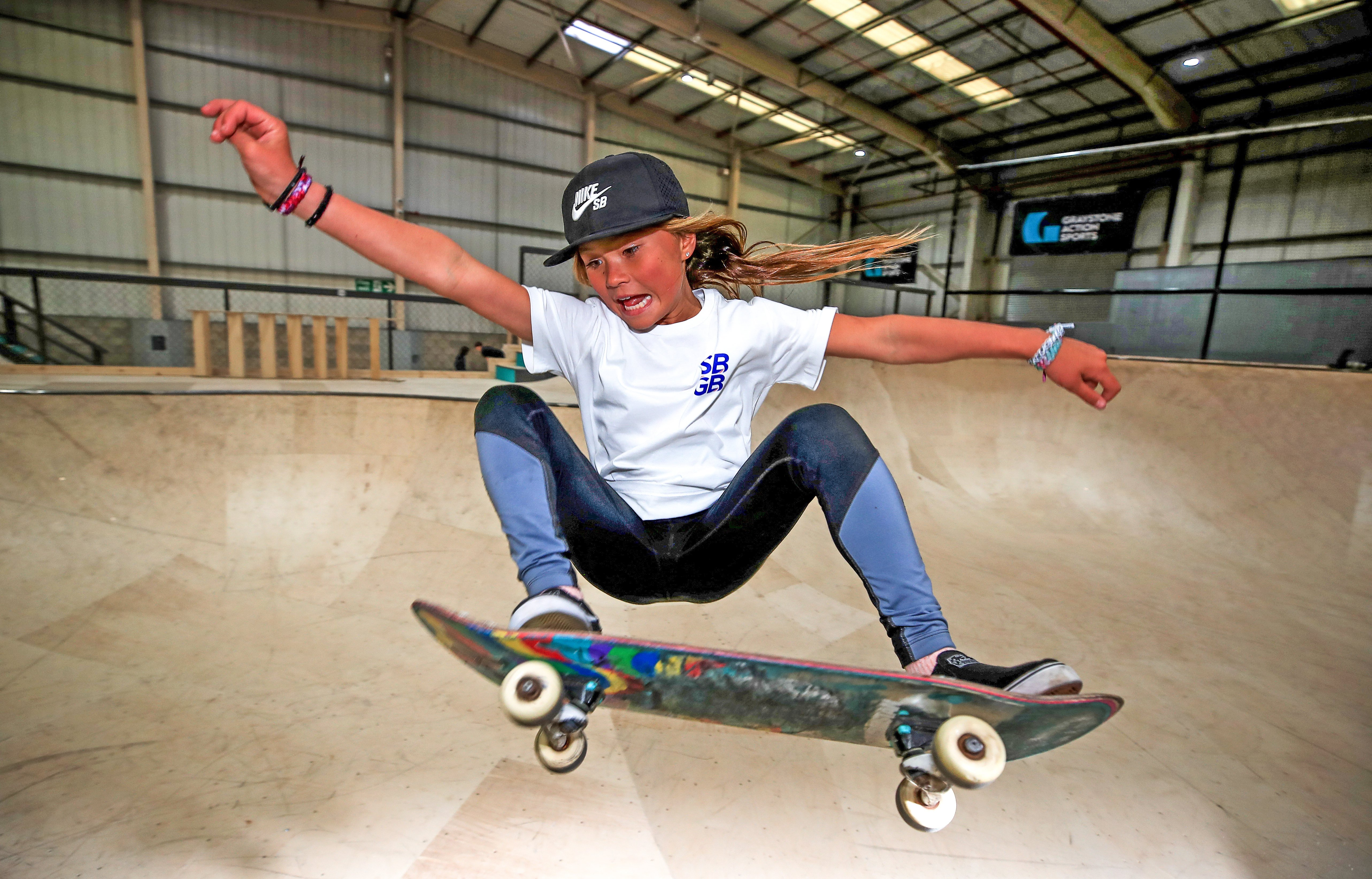 11-year-old skateboarder Sky Brown on her love for Simone Biles and her bid to become the youngest British Olympian