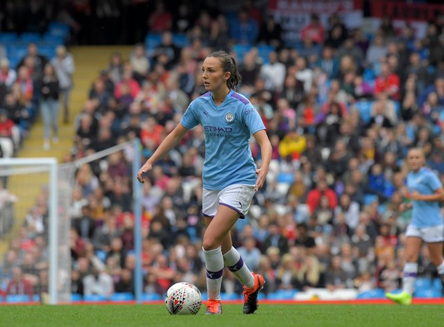 Caroline Weir is looking forward to the top-of-the-table clash with Chelsea this weekend (PA Images)