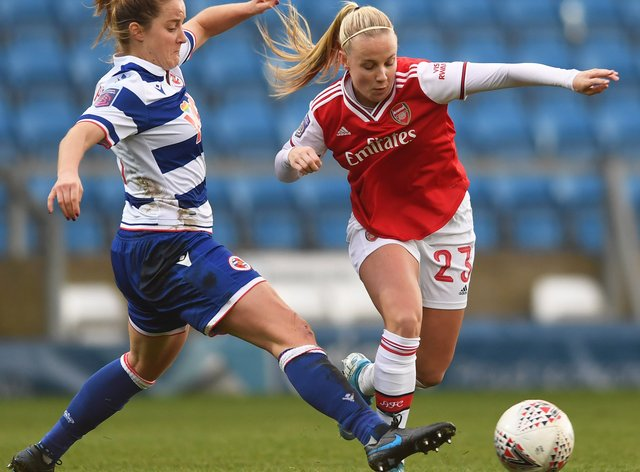 Arsenal beat Reading 3-0 in the latest round of the WSL (Twitter: Arsenal Women)