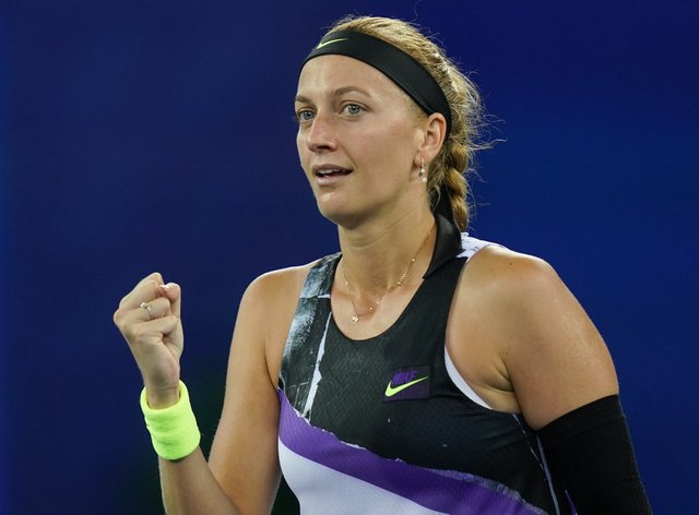 Petra Kvitova in action at the WTA Wuhan Open (PA Images)