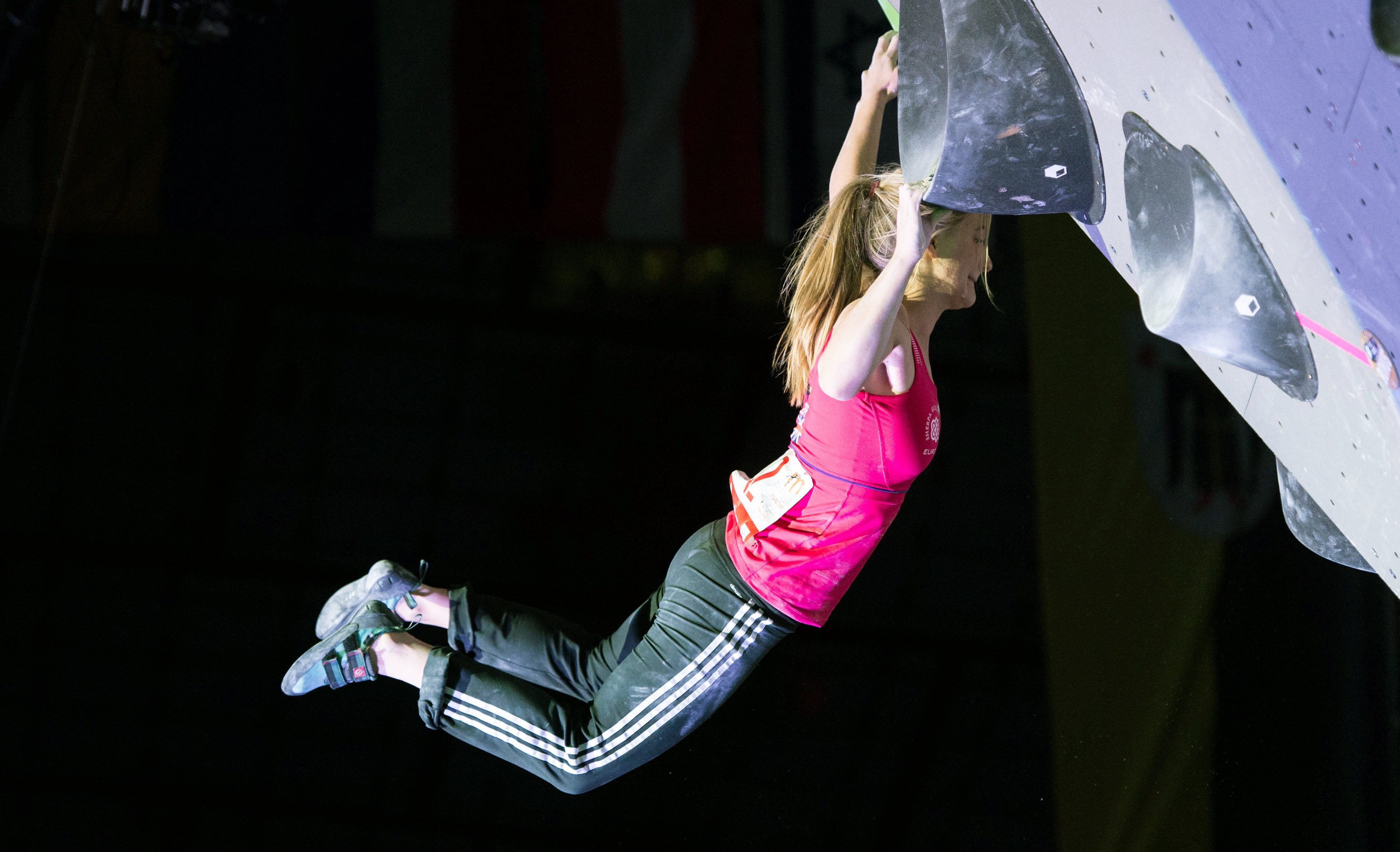British climber Shauna Coxsey says knee injury won't affect her Olympic place