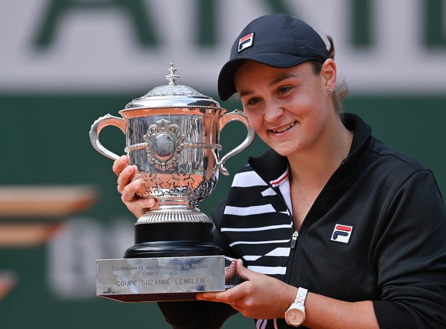 Barty celebrated her first Grand Slam win at Roland-Garros in June (PA Images)