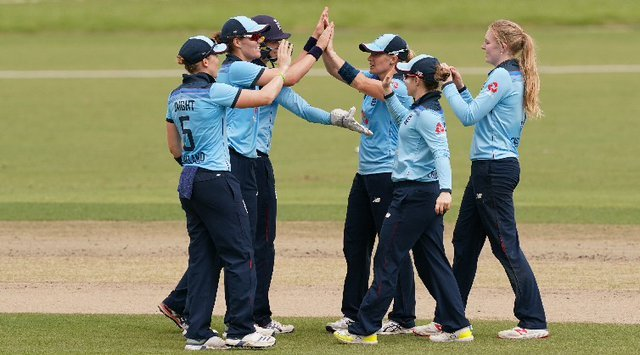 England claimed victory in the second one-day international against Pakistan (Twitter: @englandcricket)