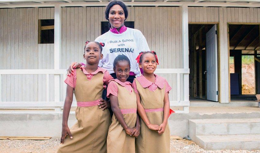 Tennis legend Serena Williams helps build school in Jamaica with Helping Hands charity