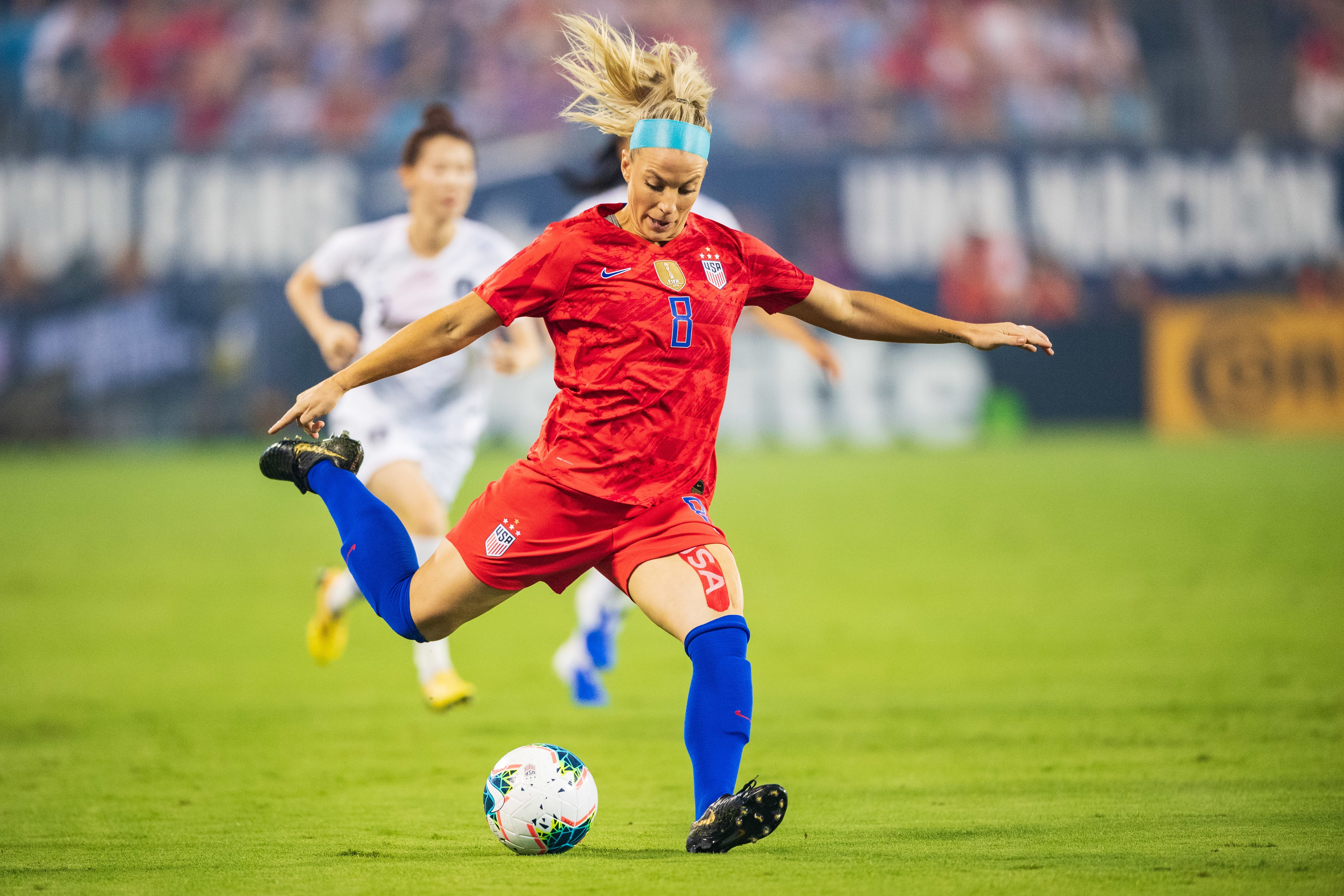 Julie Ertz named US Soccer female player of the year for second time after World Cup and NWSL performances