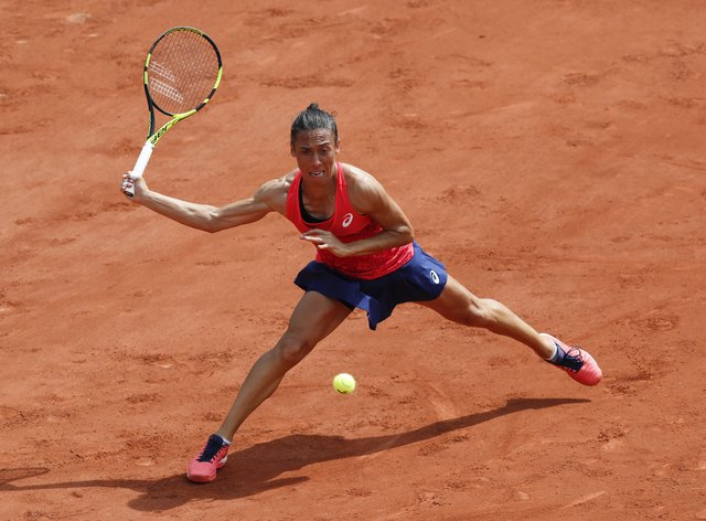 Francesca Schiavone in action at the French Open (PA Images)