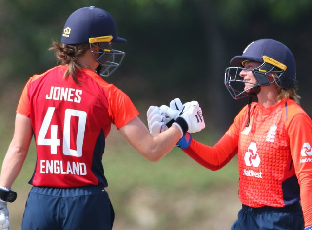 Amy Jones and Danni Wyatt put on 120 for the first wicket (twitter: @englandcricket)