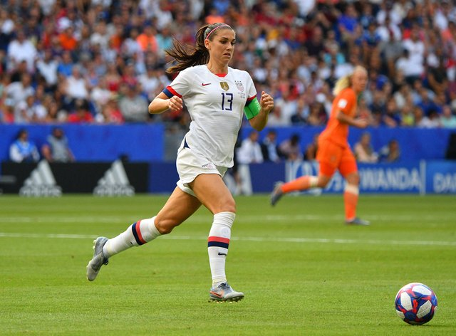 Alex Morgan was a key player for the US at the World Cup (PA Images)