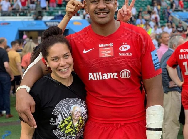Kate and Will Skelton both play for Saracens (Instagram: Will Skelton)
