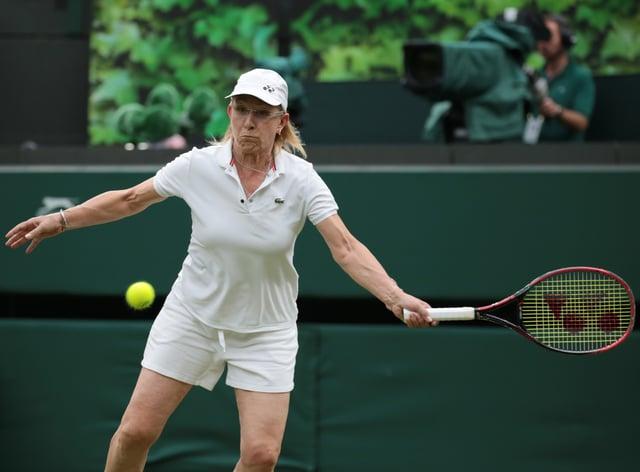 Martina Navratilova has hit back at Margaret Court's attack on transgender women (PA Images)