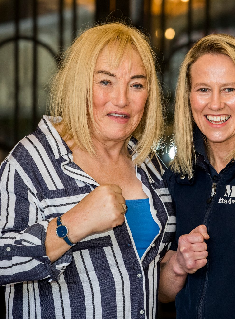 Kellie Maloney alongside her new fighter Cathy McAleer, as they look to make history (PA Images)