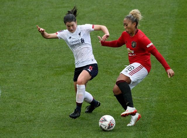 Lauren James broke the deadlock for Manchester United against Liverpool in September (PA Images)
