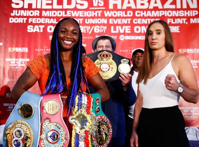 Shields holds already holds all the belts in the middleweight division (PA Images)