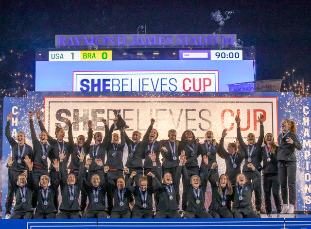 England were victorious in the 2019 SheBelieves Cup (PA Images)