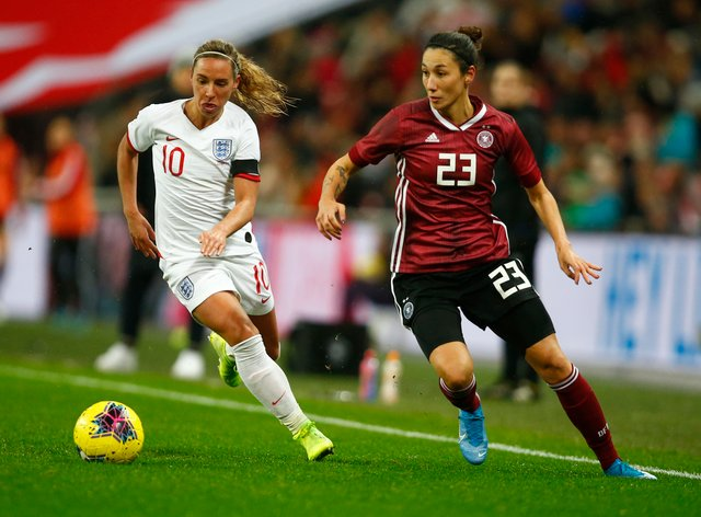 Nobbs, left, playing at Wembley for England last November (PA Images)